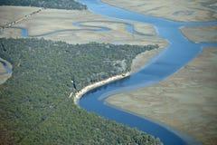Foresta marina, vista aerea Fotografia Stock Libera da Diritti