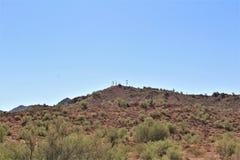 Foresta nazionale di Tonto, fuori dalla strada principale 87, l'Arizona U S Ministero dell'agricoltura, Stati Uniti fotografia stock libera da diritti