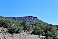 Foresta nazionale di Tonto, fuori dalla strada principale 87, l'Arizona U S Ministero dell'agricoltura, Stati Uniti immagini stock libere da diritti