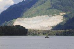 Foresta pluviale e Pit Mining aperto Immagini Stock Libere da Diritti