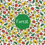 Foresta senza cuciture del modello Immagine Stock Libera da Diritti