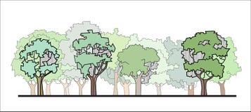 Foresta stilizzata Fotografie Stock