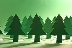 Foresta verde Immagini Stock