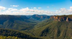 Foresta verde del parco nazionale blu delle montagne Fotografie Stock Libere da Diritti