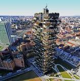 Foresta verticale, Milano, residenze del grattacielo di Porta Nuova, Italia Immagini Stock Libere da Diritti