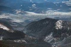 Foreste dell'alta montagna e colline, primo piano Fotografia Stock