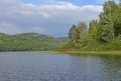 Forested Lake on a Sunny Day Stock Image