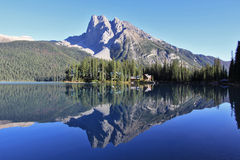 Forested Mountain Reflections Stock Photo
