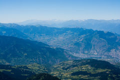 Forested mountains in scenic landscape view from Artvin highlan Stock Photos