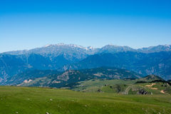 Forested mountains in scenic landscape view from Artvin highlan Royalty Free Stock Photography