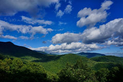 Forested mountains Royalty Free Stock Images
