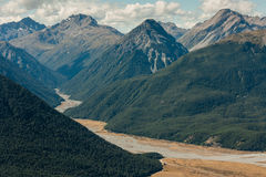 Forested slopes in Arthur's Pass National Park Royalty Free Stock Photography