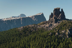 Forested slopes in Dolomites Stock Photo