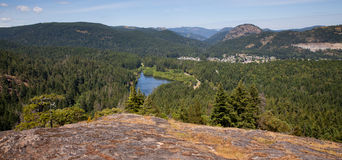 Forested valley near Victoria, BC, Canada Stock Photo