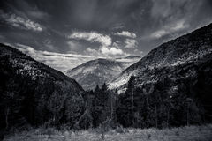 Forested valleys between the mountains. andorra Stock Photography