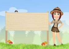 Forester в природном парке иллюстрация вектора