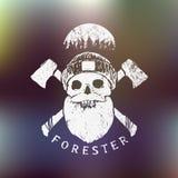 forester Печать Lumberjack иллюстрация вектора