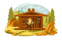 Forester сидя на крылечке бесплатная иллюстрация