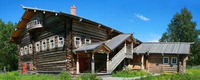 Forester. Old wooden lodge log - Russia - Arkhangelsk Royalty Free Stock Photo