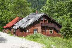 Forester house in Kuznice, district of Zakopane Stock Photos