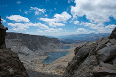 Forester Pass on the John Muir Trail. View to the south from Forester Pass on the John Muir Trail in Kings Canyon National Park Stock Image