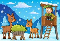 Forester winter theme 2 stock illustration