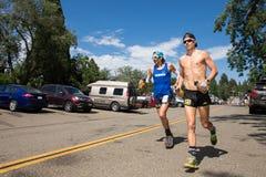FORESTHILL CA - 27 juin 2015 : Paul Terranova Running Western States image libre de droits
