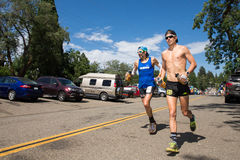 FORESTHILL CA - June 27, 2015: Paul Terranova Running Western States Royalty Free Stock Image