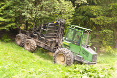 Forestry. Machine Harvester in Germany stock photography