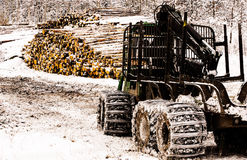 Forestry tractor Royalty Free Stock Images