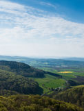 Forests and fields of Lower Saxony in Germany Stock Images