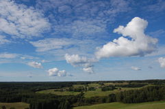 Forests and fields under sky Royalty Free Stock Photography