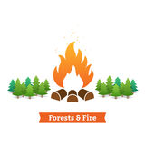 Forests and fire Royalty Free Stock Photography