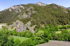 Forests and hills at the Pyrenees Royalty Free Stock Photos