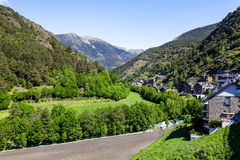 Forests, hills and valleys at the Pyrenees Royalty Free Stock Photo
