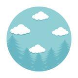 forestscape emblem isolated icon Stock Images