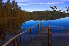 Forestsee, Karelien, Russland Lizenzfreies Stockbild