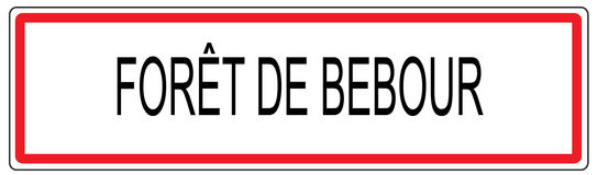 Foret de Bebour απεικόνιση σημαδιών κυκλοφορίας πόλεων στη Γαλλία Στοκ Φωτογραφία