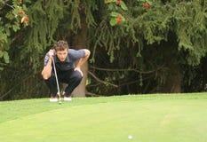 Foret, golfe verde de veludo pro-está, Megeve, 2006 fotos de stock