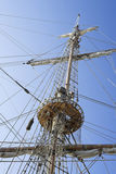 Foretop. Mast and foretop of the sailing ship Royalty Free Stock Photography
