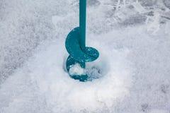 Foreuse de main de glace Images libres de droits