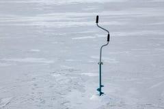 Foreuse de main de glace Image libre de droits