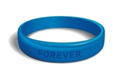 forever Μπλε πλαστικό wristband ελεύθερη απεικόνιση δικαιώματος