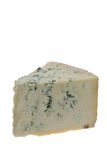 Forever in Blue Cheese. A wedge of blue-veined Stilton cheese Stock Photos
