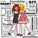 forever friendship απεικόνιση αποθεμάτων