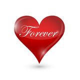Forever heart illustration design Stock Photography