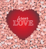Forever love lettering greeting card Stock Image