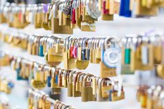 Forever love lockers. Royalty Free Stock Photography