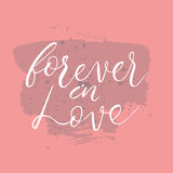 Forever in love text.Card with calligraphy Stock Photo