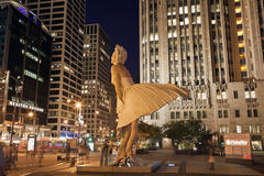 Forever Marilyn. Sculpture in Chicago Stock Photo
